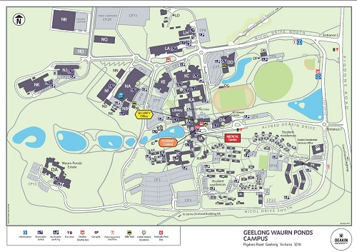 Deakin Waurn Ponds Map Location